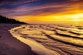 Sunset over the Baltic Sea — Stock Photo