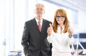 Successful business woman and businessman — Stockfoto