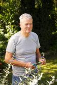 Retired old man portrait — Foto Stock