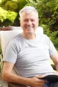 Active senior man portrait — Stock Photo