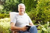 Modern senior man portrait — Stock Photo