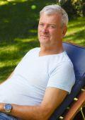 Retrato de homem aposentado — Foto Stock