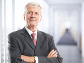 Executive senior businessman — Stock Photo