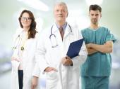 Male professor and medical team — Foto de Stock