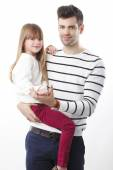 Young father and his daughter — Stock Photo