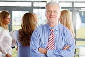 Businessman at business meeting — Stock Photo