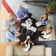 Business people sitting at meeting — Stock Photo #70206843