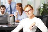 Attractive middle age businesswoman — Stock Photo