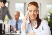 Business woman making call — Stock Photo
