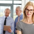 Middle age businesswoman standing — Stock Photo #76594573