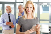 Middle age businesswoman standing — Stock Photo