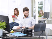 Successful young graphic designer — Stock Photo