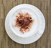Cappuccino in a cup of cocoa — Stock Photo