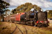 Heritage Steam Train in Maldon — Stock Photo