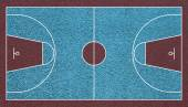 Basketball realistic court top view field textured — ストック写真