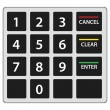 Atm keypad isolated on white. Vector version. — Stock Vector #56002533