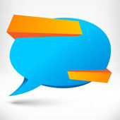Blank empty speech bubble. Origami banner background. — Stock vektor