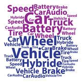 Text cloud. Car wordcloud. Tag concept. Vector illustration. — Stock Vector