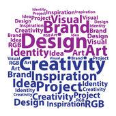 Text cloud. Design wordcloud. Typography concept. Vector illustr — Stock Vector