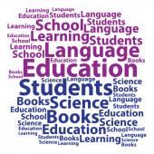 Text cloud. Education wordcloud. Tag concept. Vector illustratio — Stock Vector