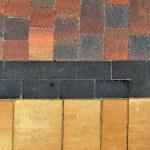 The fragment of sidewalk pavement brick pattern on promenade — Stock Photo #61947423