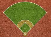 Baseball court. Top view field. Board background — Stock Photo