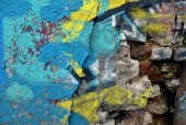 Grunge cihlovou zeď. chaotický staré městské pozadí. — Stock fotografie