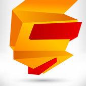 Lege lege tekstballon. origami banner, achtergrond — Stockvector