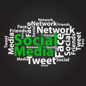Tekst chmura. projekt mediów społecznych. koncepcja tagu. illustra wektor — Wektor stockowy