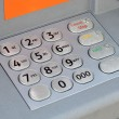 ATM keyboard machine detail. Cash point close up. — Stock Photo #69665625