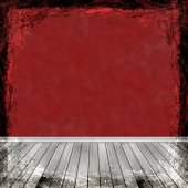 Red grunge background. Abstract vintage texture with frame and b — Zdjęcie stockowe
