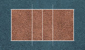 Volleyball court. Top view field. Board background. — Stock Photo