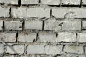 Whie brick wall texture background. Rectangle format — Stock Photo
