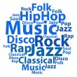 Text cloud. Music wordcloud. Tag concept. Vector illustration. — Stock Vector #69667149