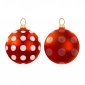 Realistic Christmas balls — Stock Vector