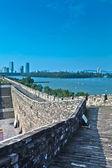 Ancient city wall in nanjing — Stock Photo