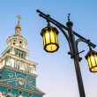 Bell tower of the Orthodox Church and lantern. Tashkent — Stock Photo #64620103