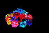 Barevné lesklé šperky — Stock fotografie