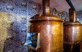 Brewery brew house inside a restaurant — Stock Photo
