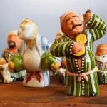 Traditional Uzbekistan souvenirs - handmade ceramic doll — Stock Photo #80025944