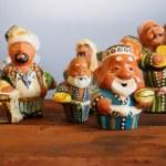 Ceramic uzbek figurine in bazaar — Stock Photo #80025998
