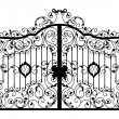 Forged gate. Architecture detail. — Cтоковый вектор #57528667