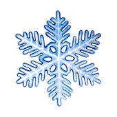 Decorative colorful snowflake. — Stock Photo