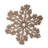 Decorative golden snowflake. — Fotografia Stock