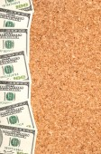 Dollars on wooden background. — Foto Stock