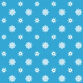 Abstract seamless snowflake pattern. — Stock Vector