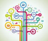Network tree — Stock Vector