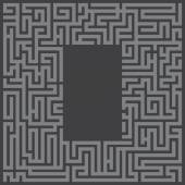 Maze labyrinth — Stock Vector