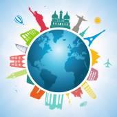 Traveling around the world — Stock Vector