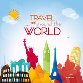 Travel around the World — Stock Vector